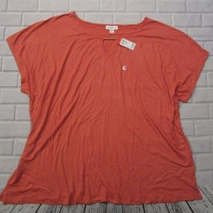 NEW Plus Size 3X Jaclyn Smith Keyhole Summer Top